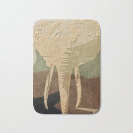 Elephant in the Jungle Camouflage Bath Mat