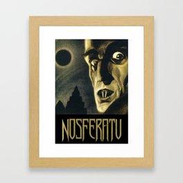 Nosferatu, Vintage Horror Movie Poster Framed Art Print