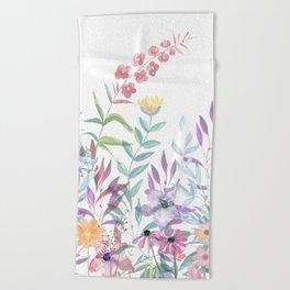 Sweet Spring Meadow Beach Towel