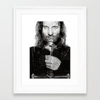 aragorn Framed Art Prints featuring Aragorn by Rik Reimert