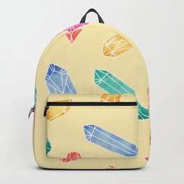 Crystals pattern - Yellow Backpack