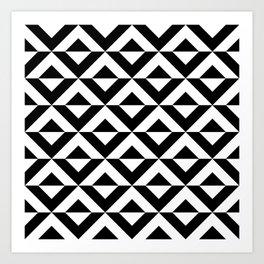 BLACK AN WHITE ONYX Art Print