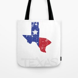 Proud to be Texas State Map Outline Distressed Tote Bag