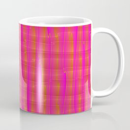 Square intersections pink lines on a orange tree. Coffee Mug