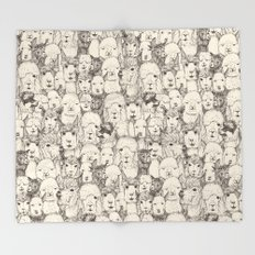 just alpacas natural Throw Blanket