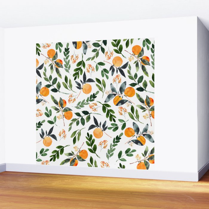 Orange Grove Wall Mural