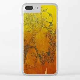 As The Sun Rises... (Flower Girls) Clear iPhone Case