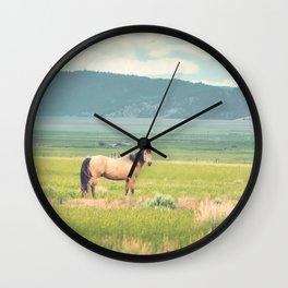 Summer Pasture Wall Clock