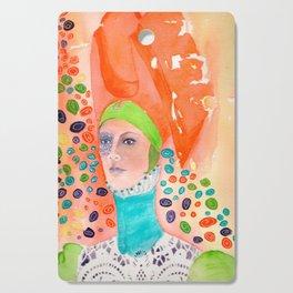 Long Neck Orange Lady Cutting Board