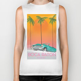 Boca Raton Florida travel poster Biker Tank