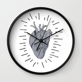 Radiant Heart Wall Clock