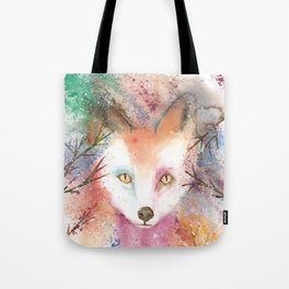 Loose Watercolor Red Fox Tote Bag