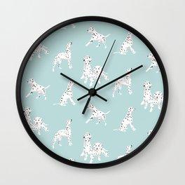 Dalmatian dog lover - blue Wall Clock