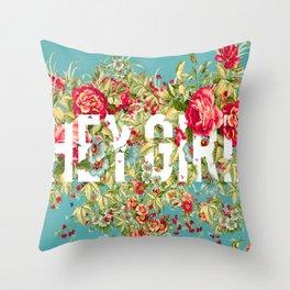 Cool Girl Roses Throw Pillow