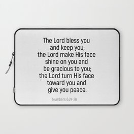 Numbers 6 24 #bibleverse #scriptures #blessing Laptop Sleeve