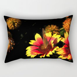 Flowers & Butterfly Rectangular Pillow