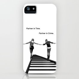 Partner in Time, Partner in Crime, Max Caulfield and Chloe Price Train Tracks iPhone Case