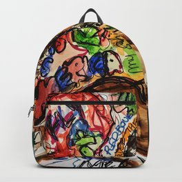 childish, this is america,colourful,colorful,poster,wall art,fan art,music,hiphop,rap,legend,shirt,p Backpack