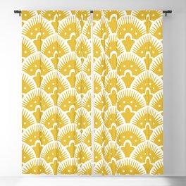 Fan Pattern Mustard Yellow 201 Blackout Curtain