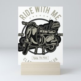 Ride With Me Classic Scooter Rider Club Mini Art Print