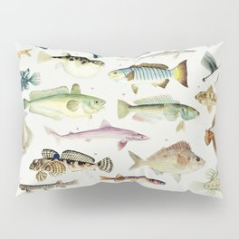 Illustrated Colorful Southern Pacific Ocean Exotic Game Fish Identification Chart No. 3 Pillow Sham