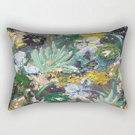 Flower piece Mint green purple   by Martine de Ruiter Rectangular Pillow