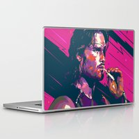 metal gear Laptop & iPad Skins featuring ESCAPE FROM METAL GEAR by mergedvisible