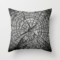 tree rings Throw Pillows featuring Tree Rings by Tanya Harrison Photography