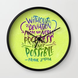 Frank Zappa on Progress Wall Clock