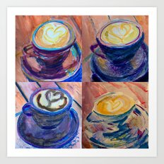 Latte Love Art Print