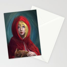 Red and Little Wolf Stationery Cards