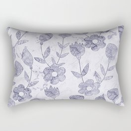 Watercolor Floral III Rectangular Pillow