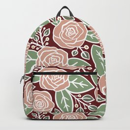 Pink roses Modern Floral Backpack