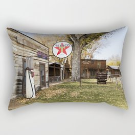 Browns Town campground and historic site in Bishop California Rectangular Pillow