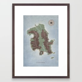 Lost Island Framed Art Print