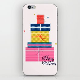 Pile of christmas presents iPhone Skin