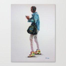 The Bag and the Kicks Canvas Print