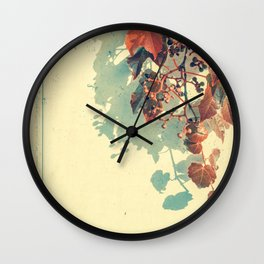 Grapes of Autumn Wall Clock