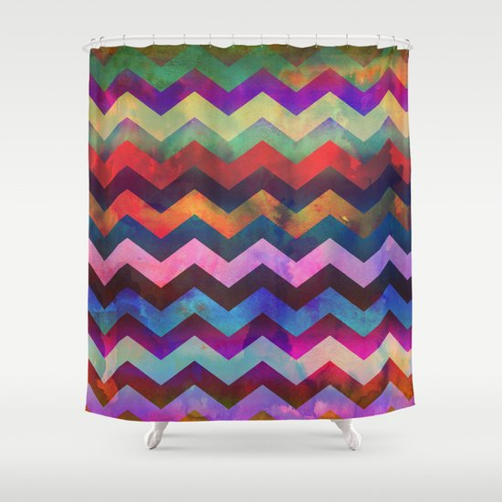 Montauk Chevron Shower Curtain By Schatzi Brown