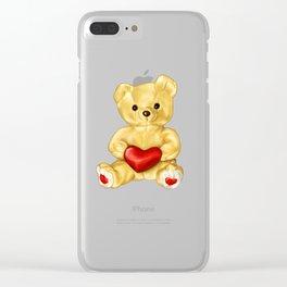 Teddy Bear Hypnotist Clear iPhone Case