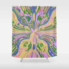 Earth Butterfly Shower Curtain