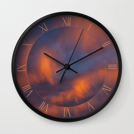 Awesome sunset orange sunlight Wall Clock