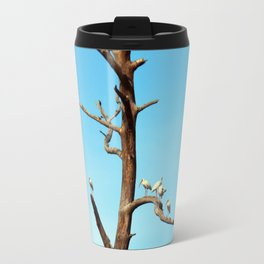 Ibises On Bare Tree Travel Mug