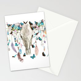 Butterfly Cow Skull Spirit Gazer Stationery Cards