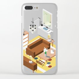 BTS - Isometric Epiphany Clear iPhone Case