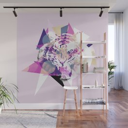 Geometric Exploding Tiger Wall Mural