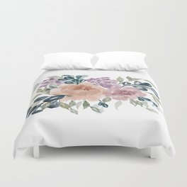 Fall Flowers + Leaves Duvet Cover
