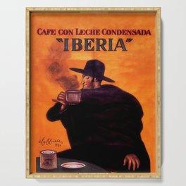 Leonetto Cappiello Iberia Coffee Advertising Poster Serving Tray