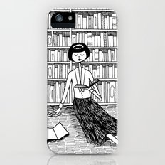 She just wanted to read books and do nothing else iPhone (5, 5s) Slim Case