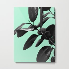 Ficus Elastica Beach Vibes #2 #foliage #decor #art #society6 Metal Print